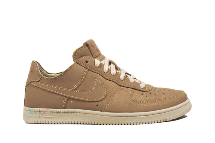 487643-200 Nike Wmns Air Force 1 Low Light Metallic Gold Grain aw