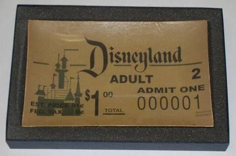 1st Disneyland Ticket